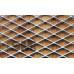 Просечно-вытяжная сетка форма Ромб R ячейка 42х22 мм перемычка 1,5х2 мм 1000х2000 стальная 08ПС